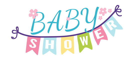 Baby shower invitation vector card