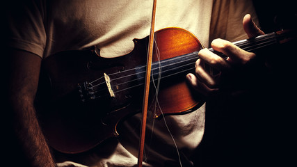 Holding an Old Violin