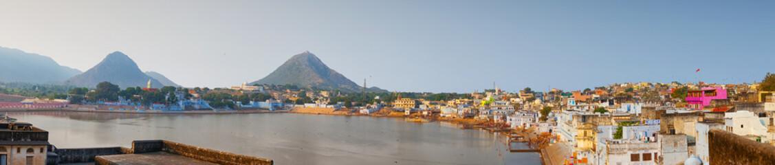 Lake and Landscape of Pushkar, India