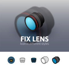 Fix lens icon in different style