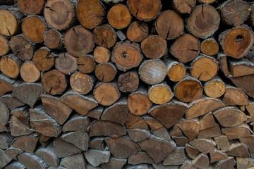 Photo sur Aluminium Texture de bois de chauffage Wood for winter