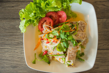 Spicy pork. It is a traditional food of Thailand.