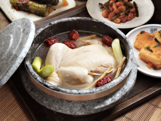 Samgyetang - chicken soup with ginseng