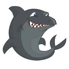 Expressive shark character