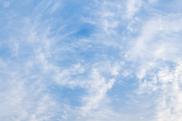 soft-focus, Cloud motion in the blue sky,