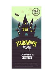 Halloween flyer. Vector