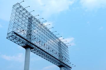 empty construction billboard