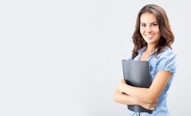 Businesswoman with black folder
