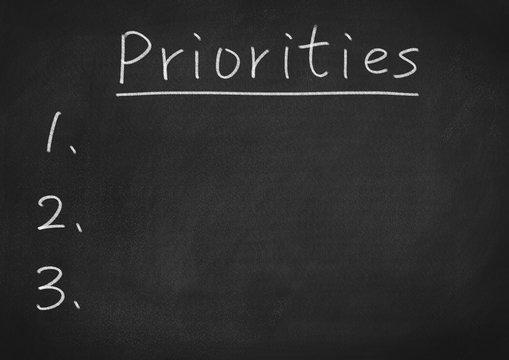 priorities