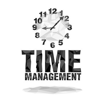 Isolated the numbers of clock and words: time management