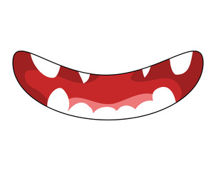 cute teeth smile vector symbol icon design.