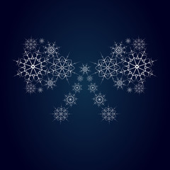 bow consisting of snowflakes