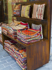 Fabric in Bazaar, Turkey .