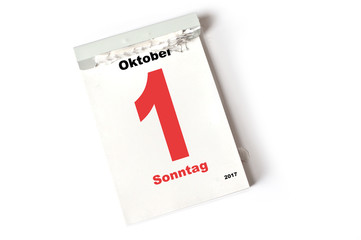 1. Oktober 2017