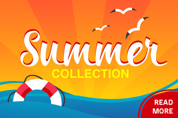 vector summer collection banner