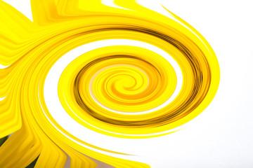 Yellow flower set closeup isolated on white background