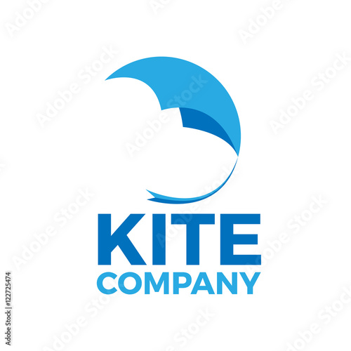 vector sign kite flying in abstract shape stock image and royalty