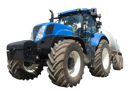 tractor with tank isolated