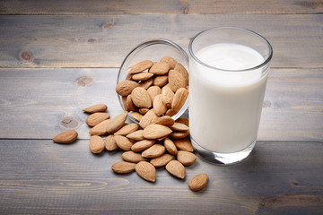 Almond milk, vegetable milk
