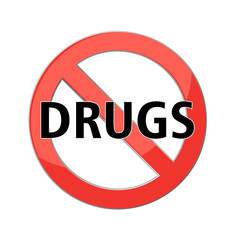 Printno drugs sign