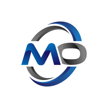 Simple Modern Initial Logo Vector Circle Swoosh mo