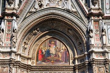 Florenz - Eingangsportal der Kathedrale Santa Maria del Fiore