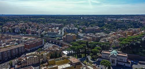 foto panoramica di roma veduta aerea