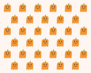 Phantom Pumpkins Halloween pattern