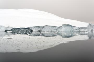 Icebergs are on the arctic ocean, Ilullisat, Greenland. May 16, 2016.