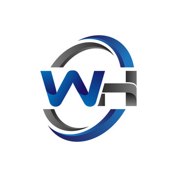 Simple Modern Initial Logo Vector Circle Swoosh wh