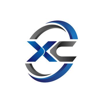 Simple Modern Initial Logo Vector Circle Swoosh xc