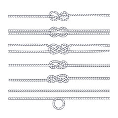 Rope knot on a white background. Vector.