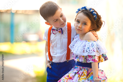 Boy And Girl Holding Hands Valentines Day Love Story Stock Photo