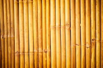 Yellow bamboo textured background.