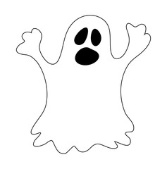 halloween ghost vector symbol icon design.