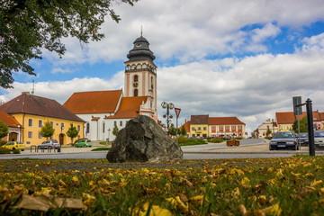 Center of Bechyne city, Czech Republic.