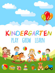 Kindergarten Play and learn poster