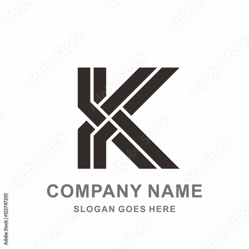 Monogram letter k double strips vector logo design template stock monogram letter k double strips vector logo design template pronofoot35fo Images
