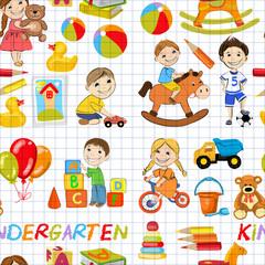 Vector kindergarten Images