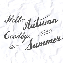 Autumn hand lettering and calligraphy design