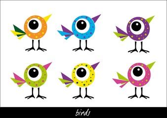 Fototapeta bajkowe, kolorowe ptaszki obraz