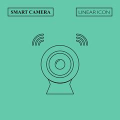 Smart camera linear icon