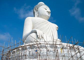Big 45-meter Buddha monument of the Phuket island in Thailand