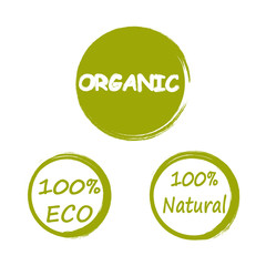 natural, eco, organic logos grunge style