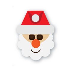 Santa Claus in a Christmas hat on the transparent backgroung