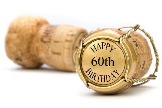 Happy 60th Birthday - Champagne