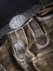 traditional bavarian leather trousers