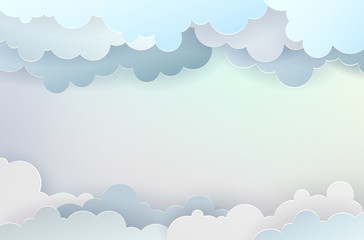 Abstract background with clouds and place for your text