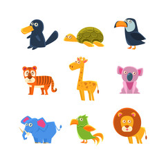 Exotic Toy Fauna Set
