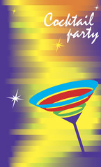 Invitation card for cocktail party